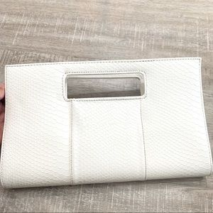 Charming Charlie Snap Closure Cream Clutch